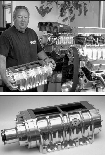 Rather than manufacturing a complete line of blower kits, blower manufacturer Mert Littlefield of Littlefield Blowers, Anaheim, California, prefers concentrating on building top-quality street and strip superchargers (in 6-71 to 14-71 sizes) and related components. Littlefield finds it more cost-effective to assemble kits from readily available components within the aftermarket rather than stocking a huge inventory of items.