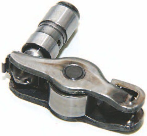 Although the Coyote's finger-style roller rocker arm and lash adjuster resemble those on the 4.6L/5.4L Modular family, these rockers are downsized from their Modular cousins and are not interchangeable. At press time the aftermarket hasn't produced a high-performance roller rocker arm for the 5.0L Coyote. The factory stamped-steel roller rocker can withstand 1,500 to 2,000 hp, which makes it suitable for any Coyote project.